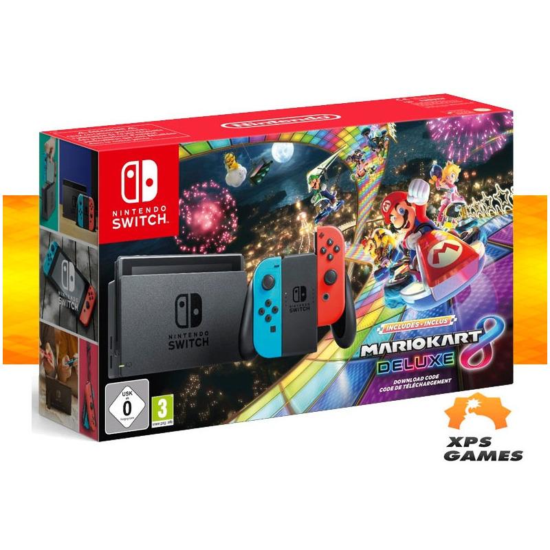 Nintendo Switch Neon + Mario Kart 8