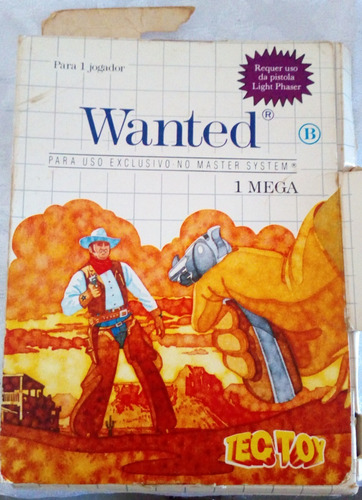 Cartucho Master Wanted - Tec Toy ( Uso Da Pistola) + Caixa Original