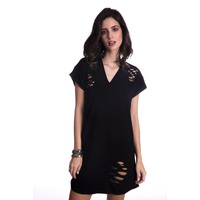 Vestido Long Island Destroyed Preto