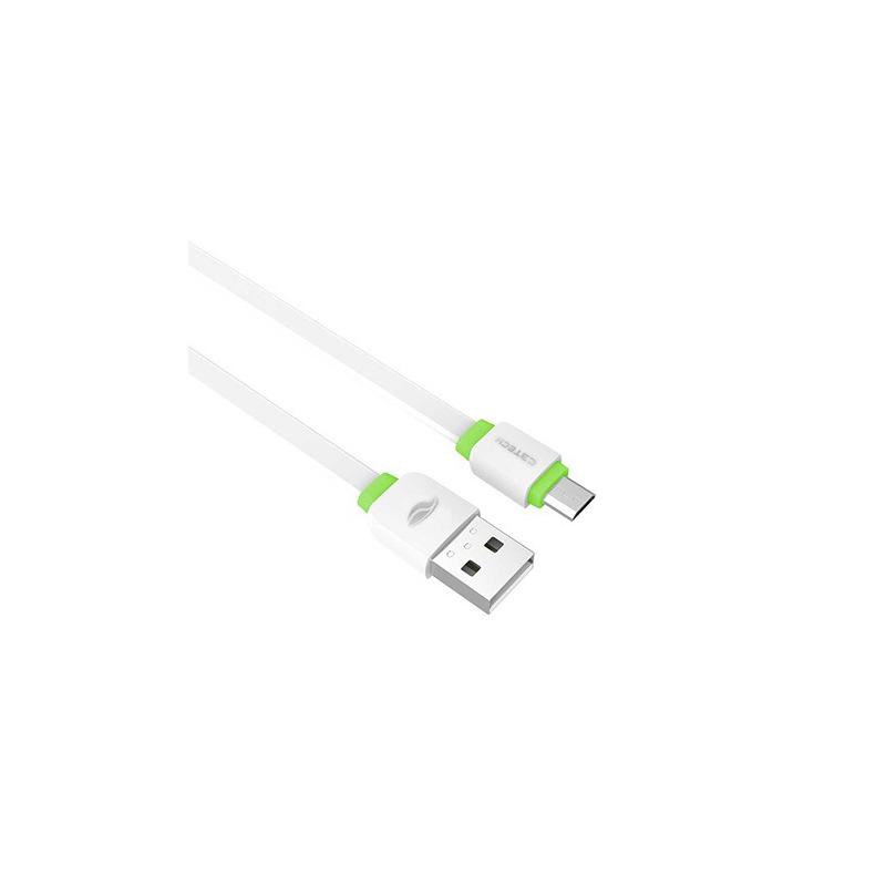 CABO USB-MICRO USB 2,0A 1M CB-100WH C3T
