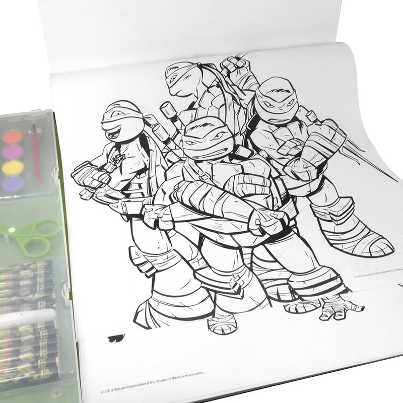 Kit de Pintura Tartarugas Ninja Multikids - BR066