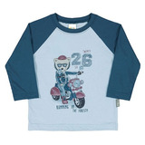 Camiseta Bebê Manga Longa Pulla Bulla
