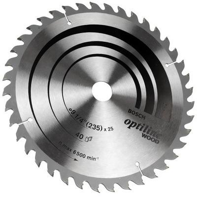 "Disco de Serra Optiline Wood 9.1/4"" 40D - Bosch"