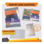 Capa De Livro Kit 10 Ajustáveis Frete Grátis