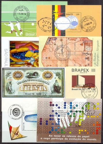 @ Brasil Blocos (rhm 36/55) Com Carimbo/1ºdia + .@ Original