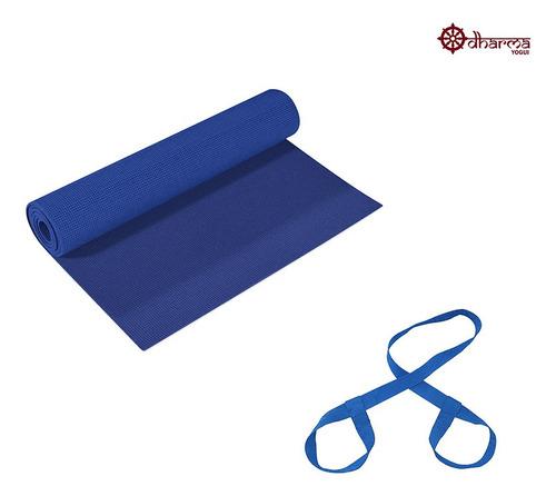 Yoga Mat Azul Céu Com Alça De Transporte
