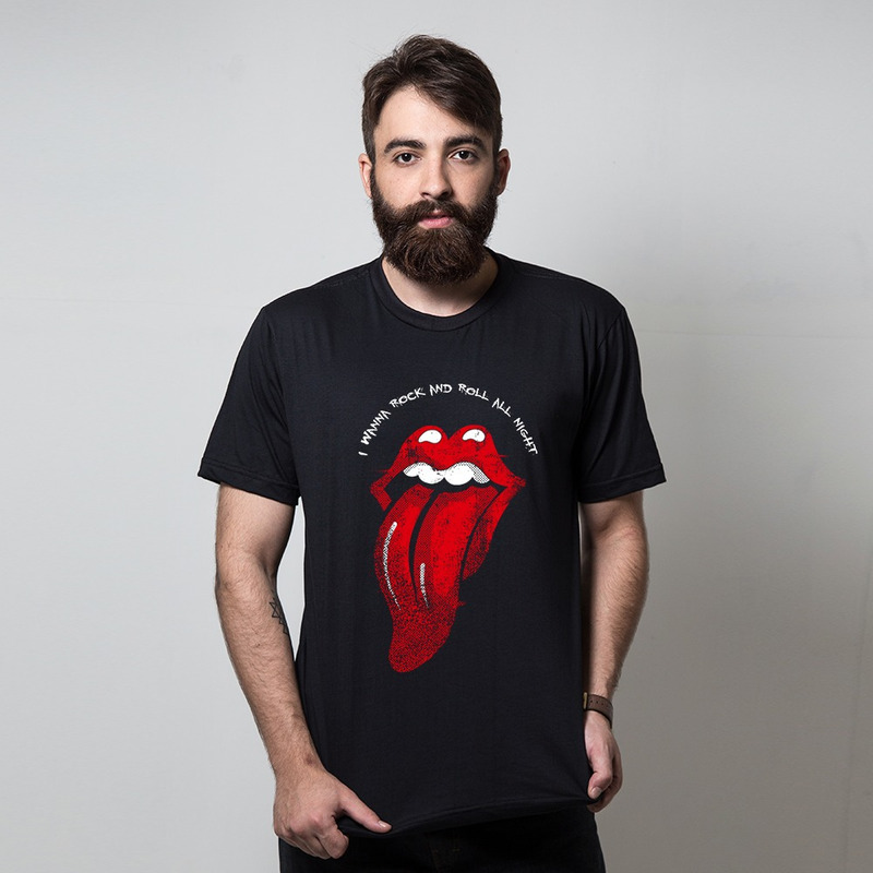 CAMISETA PRETA - I WANNA ROCK