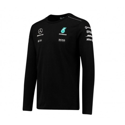 nova camiseta mercedes petronas f1 manga longa 2017 preta rsnmotorsports. Black Bedroom Furniture Sets. Home Design Ideas