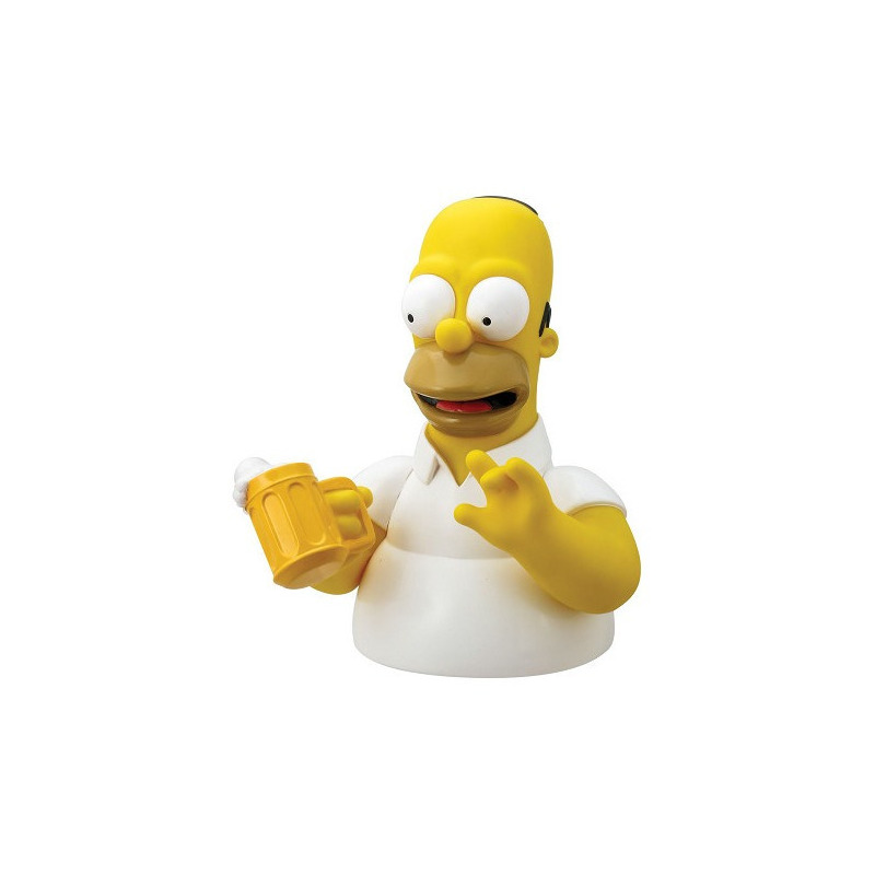 Busto Cofre Homer c/ Cerveja Monogram - The Simpsons - Bust Bank