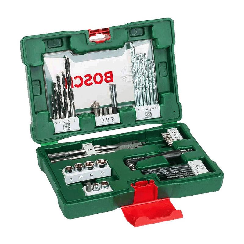 Kit Combo Parafusadeira e Furadeira GSR 7-14 E + Jogo de Brocas, Soquetes e Bits 41 Peças - Bosch - 220 Volts
