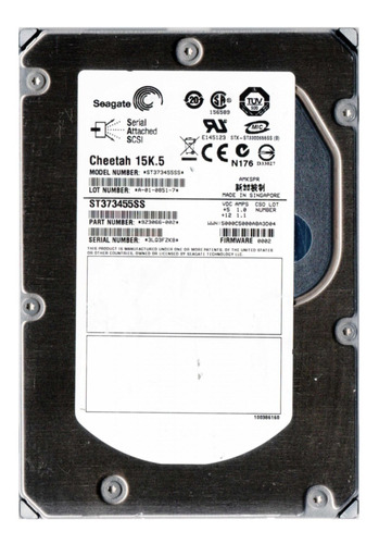 Hd 73gb Sas Hp Dell Ibm Seagate St373455ss 3.5 16mb 15k Original