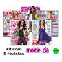 Kit Lote Com 5 Revistas Molde E Cia Com Moldes Moda Costura
