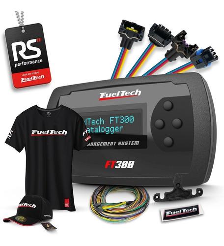 Fueltech Ft300 3m + Kit 9 Chicotes Vw 4 Bicos + Brindes Original