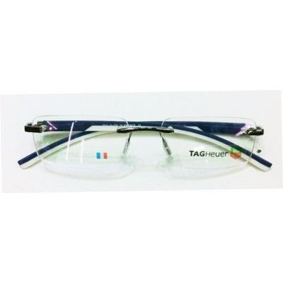 a9fc497055855 Armação Oculos De Grau Sem Aro Th0843 Branco E Azul Silicone ...