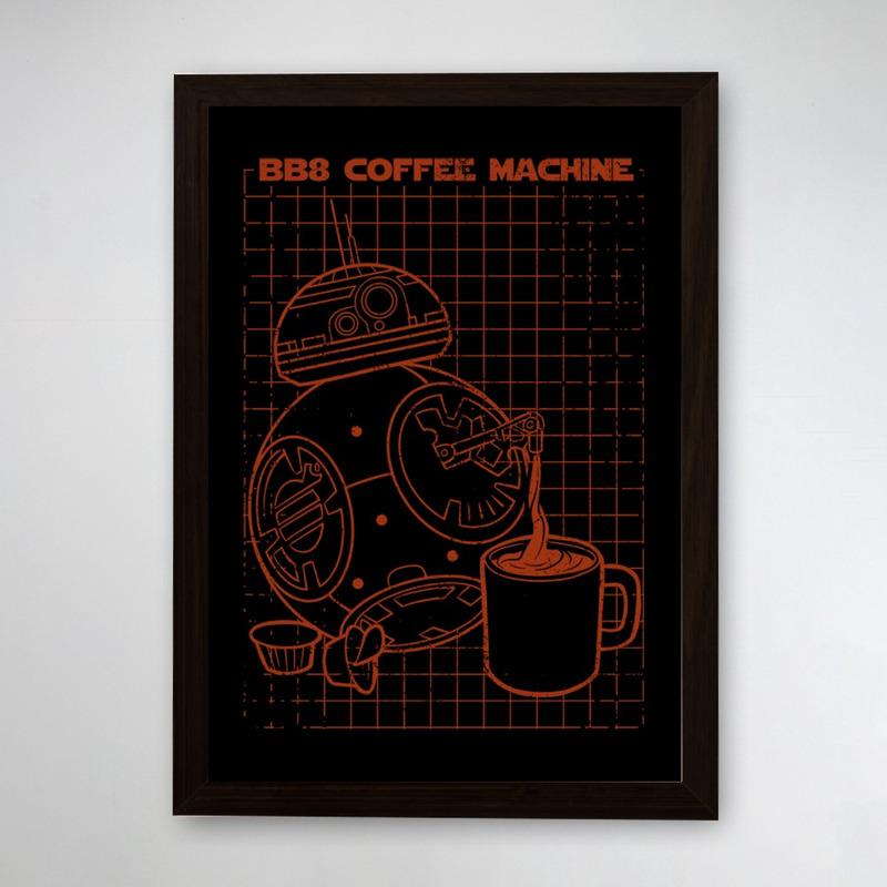 PÔSTER COM MOLDURA - BB8 COFFEE