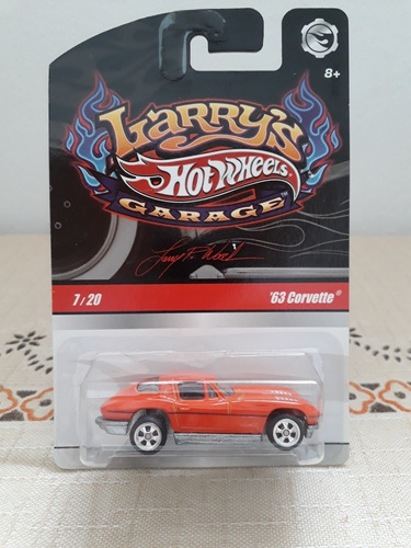 Miniatura Hot Wheels Larry's Garage Corvette 1963 Lacrado Original