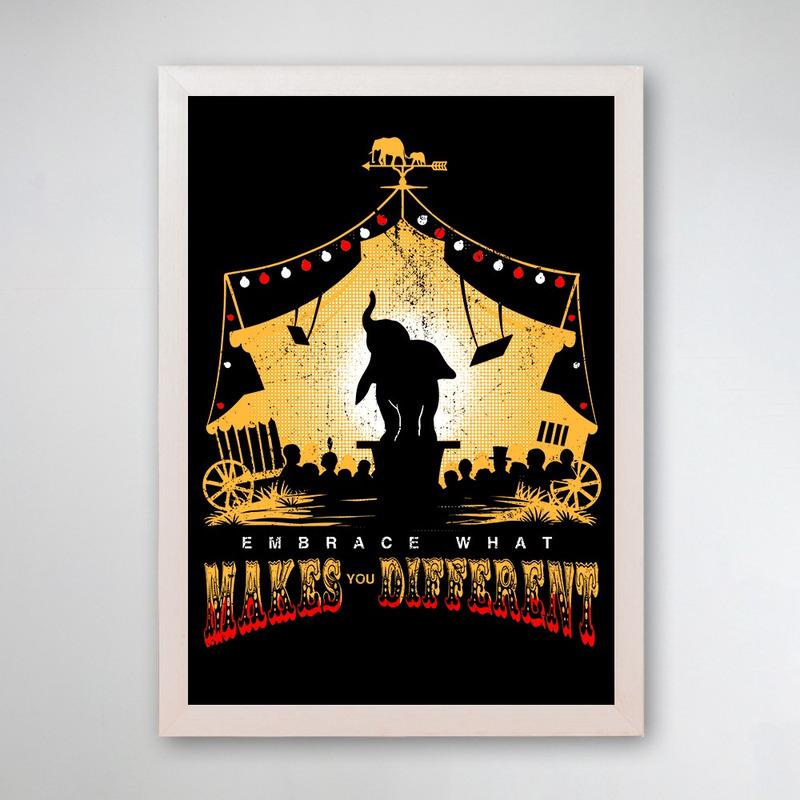 PÔSTER COM MOLDURA - FLYING ELEPHANT