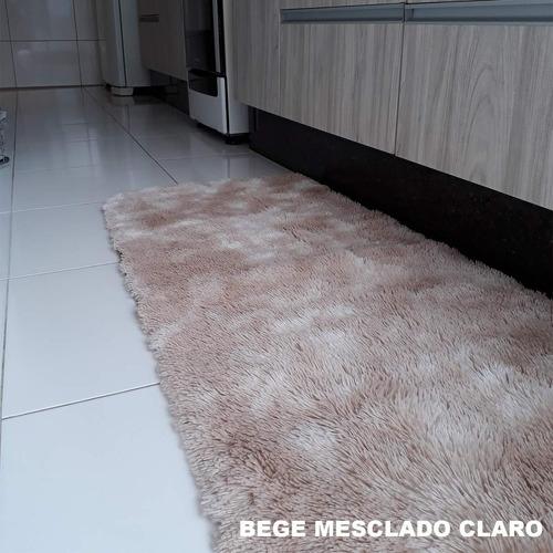 Tapete Peludo Passadeira Para Cozinha Sala Quarto 1,50x0,60 Original