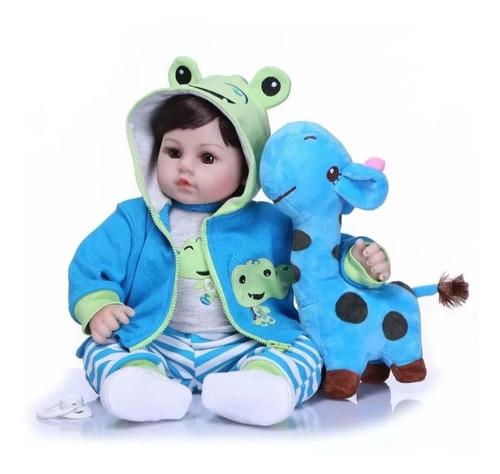 Bebe Reborn Menino Realista Girafa Boneco Reborn + Brinde Original