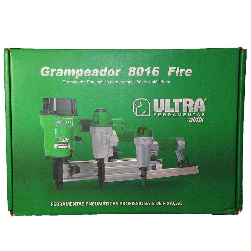 Kit Combo Grampeador Pneumático 80 + Grampos de 6 a 16mm - Ultra