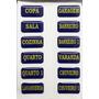 Etiquetas De Identificação Quadro De Comando Painel Elétrico
