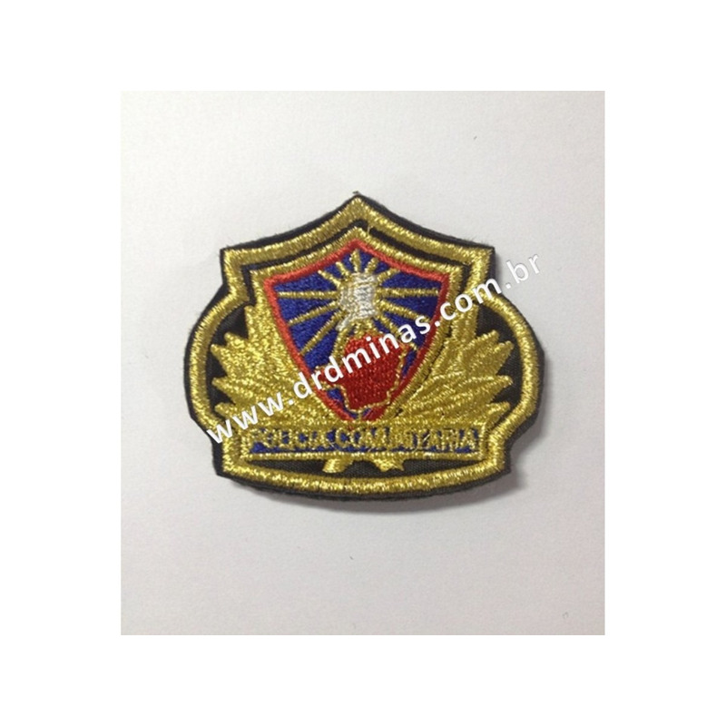 Patch / Distintivo Bordado Policia Comunitaria - I