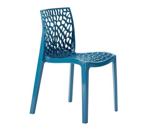 Cadeira  Gruvyer Cozinha Jantar Alto Brilho Turquesa Original