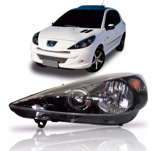 Farol Peugeot 207 Hoggar 2007 Até 2014  Mascara Negra Ld Original