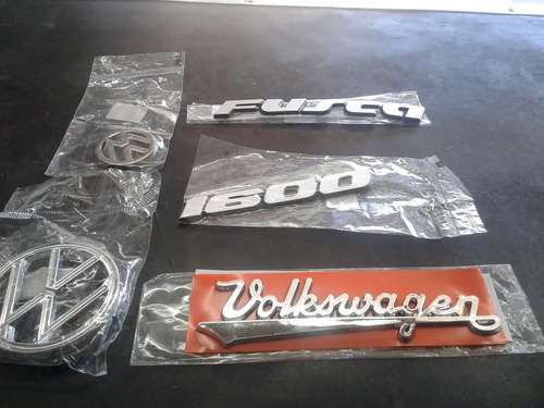 Kit Emblemas Fusca Mala Capo Fusca 1600 + Volkswagen