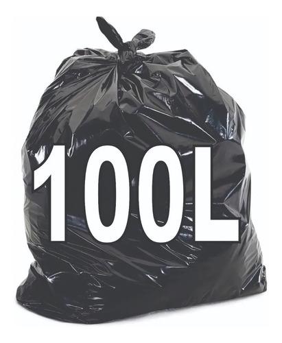Saco De Lixo 100 Lts Preto - 100 Unidades - Resistente Original