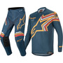 Calça/camisa kit Alpinestars Racer Braap 2020 Azul/laranja