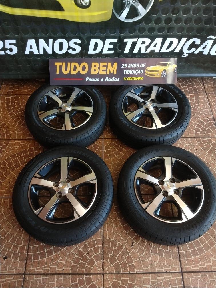 Jogo De Rodas Onix 2018 2019 + Pneus 185/65r15 Bridgestone
