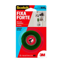 Fita DF Fixa Forte Transp. 19mm x 2m (interno)-3M
