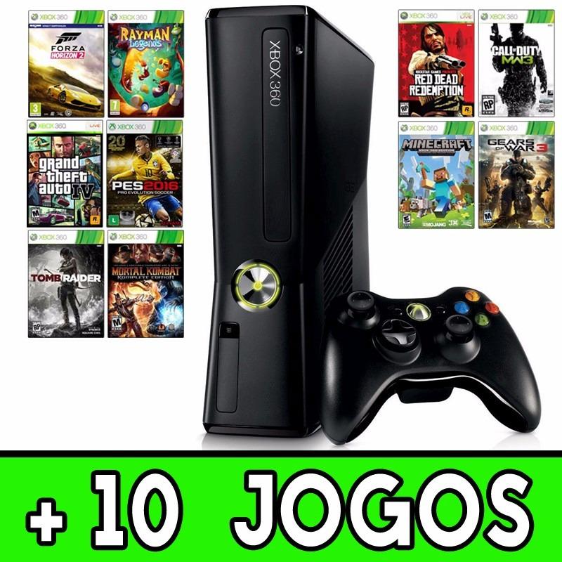 Xbox 360 slim roda jogos hd e dvd 1 controle 10 for Hd esterno xbox 360