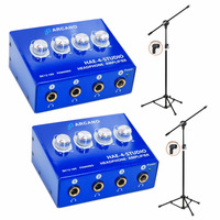 02 Amplificadores De Fones Hae4studio + 02 Pedestais Vector