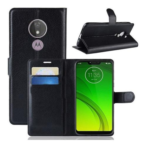 Capinha Carteira Flip Motorola Moto G7 Power Tela 6.2 Original