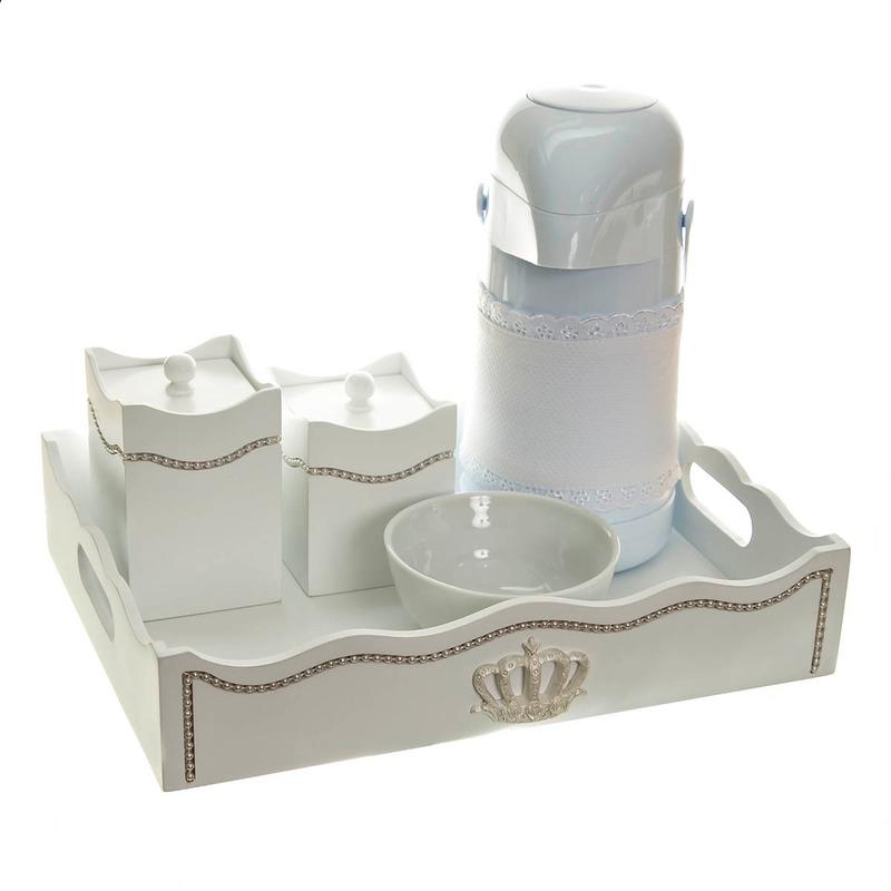 Kit Higiene Com Capa Fantasia Perolas Brancas E Coroa