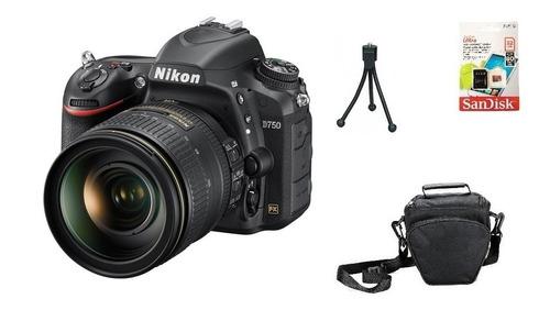 Nikon D750 + 24-120mm + 32gb + Bolsa + Tripé Garantia Novo Original