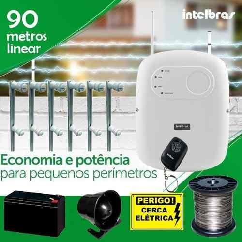 Kit Cerca Elétrica Residencial Intelbras 90 Metros C/ Canto Original