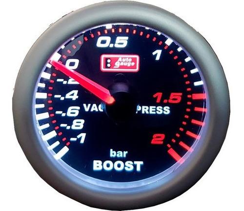 Manômetro Turbo 2kg Com Vácuo + Kit  Auto Gauge 52 Original