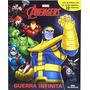 Livro Com 12 Miniaturas Marvel Guerra Infinita