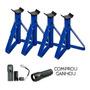 Cavalete Automotivo 2, 5 Ton Reforçado Azul (kit Com 4 Peças)