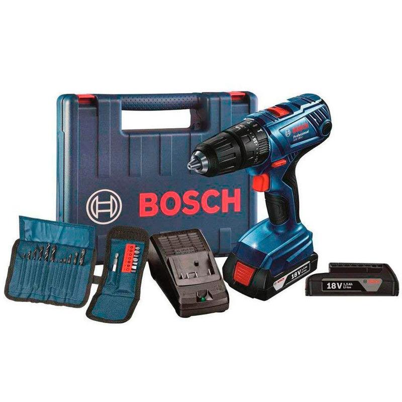 Parafusadeira/Furadeira Bosch à Bateria GSB180 LI + KIT