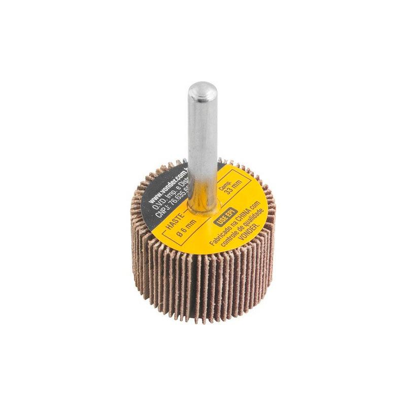 Roda de Lixa 30mm x 20mm com Haste Grão 120 Vonder