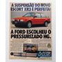 Ford Escort Xr3 1987 Propaganda Antiga Publicidade H G