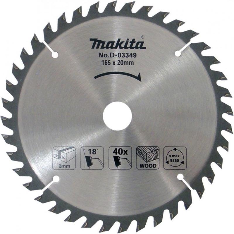 """Disco de Serra 165 mm (6.1/2"""") 40 Dentes - Makita - D-03349"""
