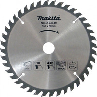"Disco de Serra 165 mm (6.1/2"") 40 Dentes - Makita - D-03349"