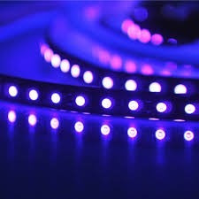 Rolo De Fita Flexivel 300 Led 5050 Prova D'agua Violeta Uv