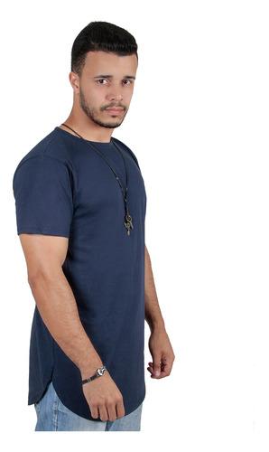 Kit C/6 Un Camisas Blusas Masculinas Long Line Oversize Swag Original