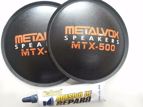 2- Calota Protetor Para Falante Metalvox Mtx-500 135mm +cola Original